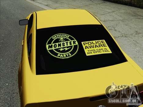 Ford Mustang GT Lowlife para GTA San Andreas esquerda vista