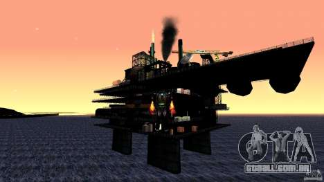 Plataforma de petróleo em Los Santos para GTA San Andreas terceira tela