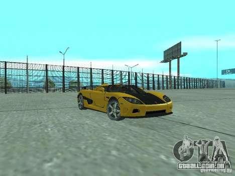 Koenigsegg Agera para GTA San Andreas vista traseira