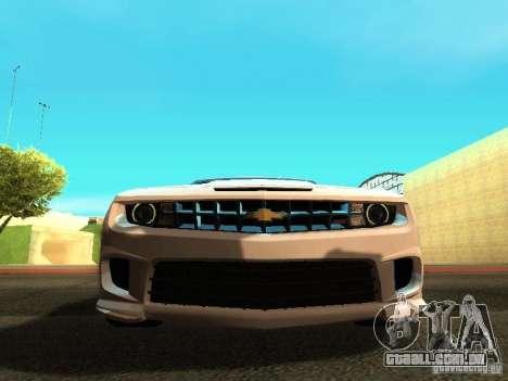 Chevrolet Camaro SS 2010 para GTA San Andreas vista interior