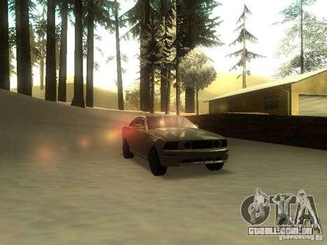 Ford Mustang GT para GTA San Andreas vista direita