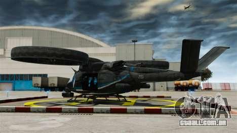 Helicóptero de transporte Samson SA-2 para GTA 4 traseira esquerda vista