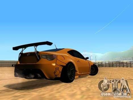 Toyota FT86 Rocket Bunny V2 para GTA San Andreas vista direita