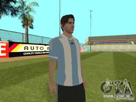 Lionel Messi para GTA San Andreas por diante tela