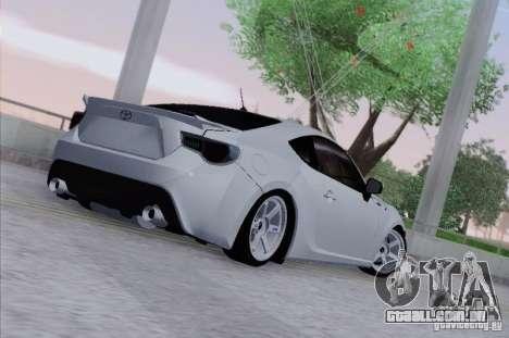 Toyota GT86 para GTA San Andreas vista direita