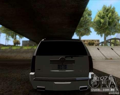 Cadillac Escalade ESV Platinum 2013 para GTA San Andreas vista direita