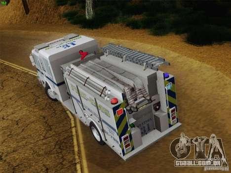 Pierce Pumpers. B.C.F.D. FIRE-EMS para GTA San Andreas vista inferior