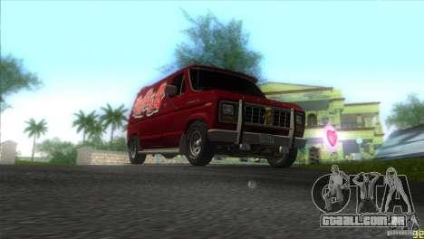 Ford E-150 Gang Burrito para GTA Vice City vista traseira