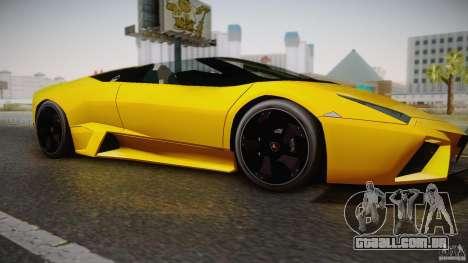 Lamborghini Reventón Roadster 2009 para GTA San Andreas traseira esquerda vista