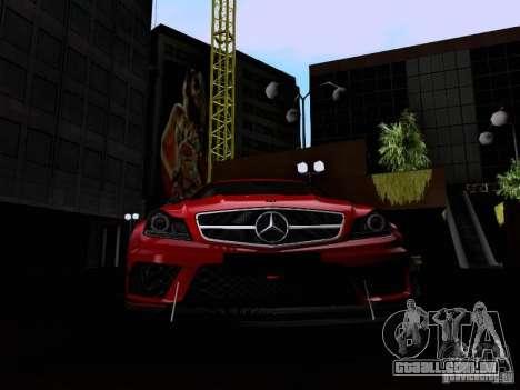 Mercedes-Benz C63 AMG 2012 Black Series para vista lateral GTA San Andreas