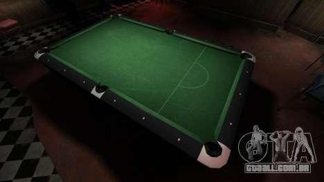 Mesa de bilhar superior na barra de 8 bolas para GTA 4 terceira tela
