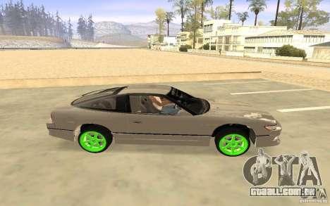 Nissan 200SX Monster Energy para GTA San Andreas traseira esquerda vista