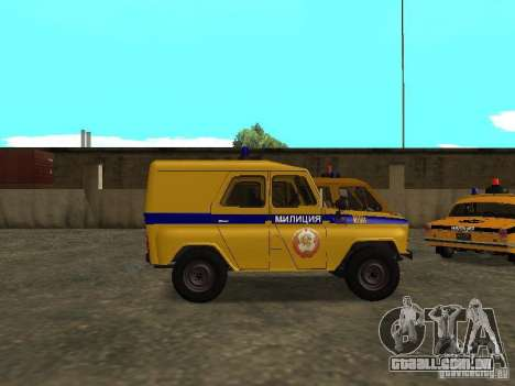 Polícia de 3151 UAZ para GTA San Andreas esquerda vista