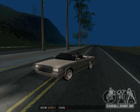 Feltzer v1.0 para GTA San Andreas traseira esquerda vista