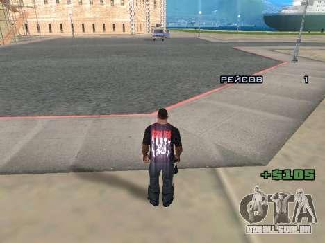 Repórter para GTA San Andreas por diante tela