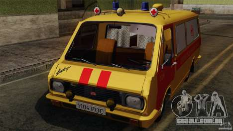 RAF 22031 Latvija ambulância para GTA San Andreas vista interior