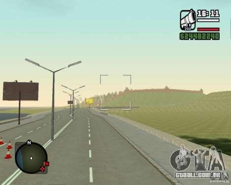 Estrada de Leiria-Nižegorodsk para GTA San Andreas por diante tela