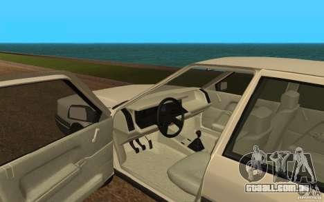 Renault 21 GTD para GTA San Andreas vista traseira