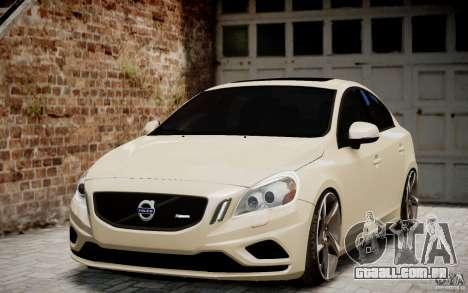 Volvo S60 R-Design 2011 para GTA 4 vista de volta