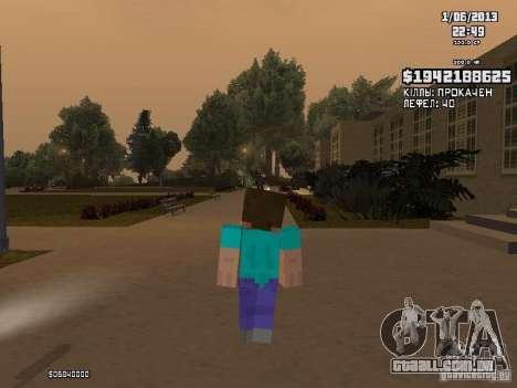 Steve para GTA San Andreas segunda tela