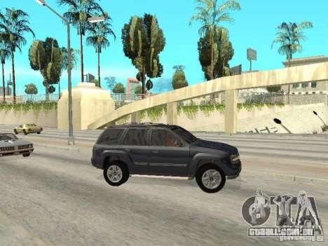 Chevrolet TrailBlazer 2003 para GTA San Andreas esquerda vista