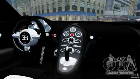 Bugatti Veyron 16.4 v1.0 wheel 1 para GTA 4 vista interior
