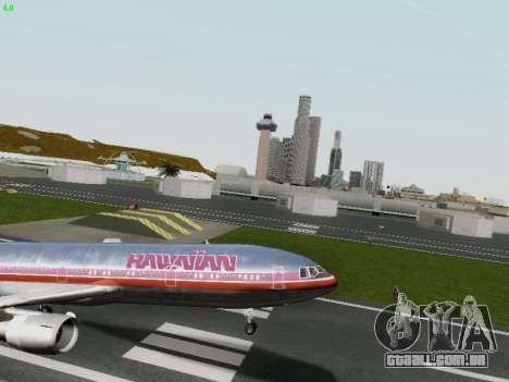 McDonell Douglas DC-10-30 Hawaiian para vista lateral GTA San Andreas