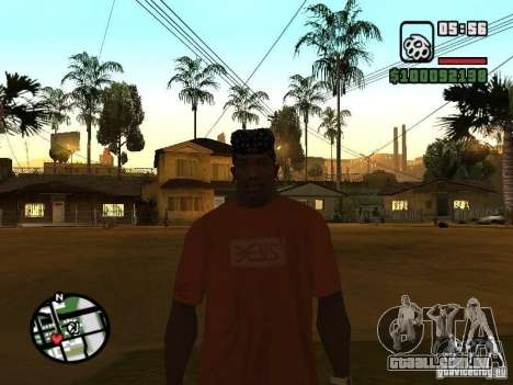 Rammstein t-shirt v1 para GTA San Andreas por diante tela