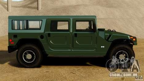 Hummer H1 Alpha para GTA 4 esquerda vista