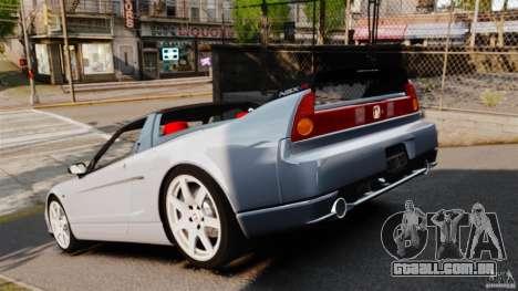 Honda NSX-R (NA2) 2005 para GTA 4 traseira esquerda vista