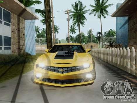 Chevrolet Camaro SS 2012 para GTA San Andreas esquerda vista