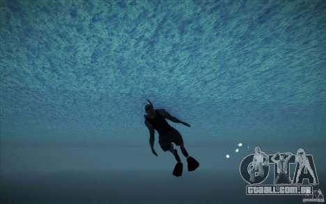 Tanque de mergulho para GTA San Andreas por diante tela