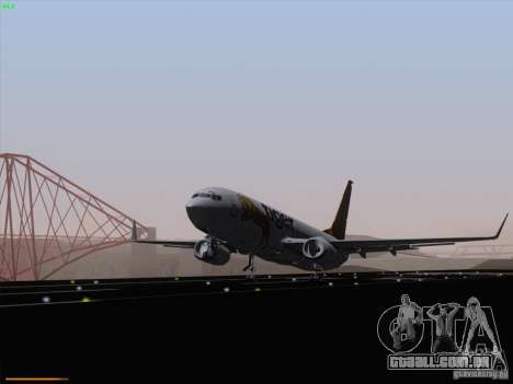 Boeing 737-800 Tiger Airways para GTA San Andreas traseira esquerda vista