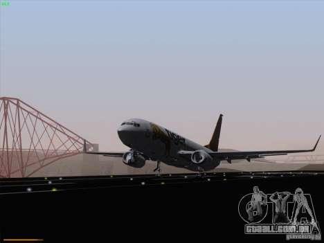 Boeing 737-800 Tiger Airways para GTA San Andreas traseira esquerda vista