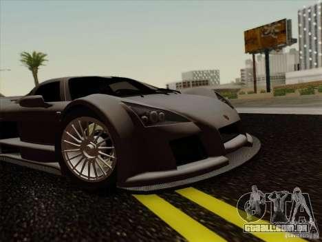 Gumpert Apollo 2005 para GTA San Andreas vista traseira