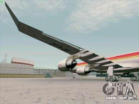 Airbus A-340-600 Iberia para GTA San Andreas vista interior