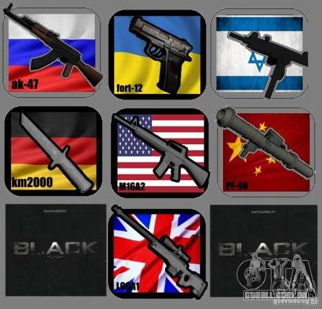 New Weapon Pack para GTA San Andreas