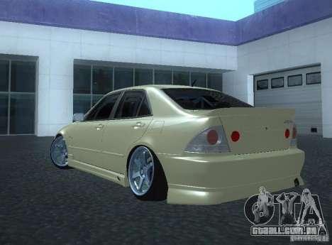 Toyota Altezza para GTA San Andreas esquerda vista
