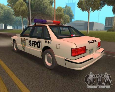 Updated SFPD para GTA San Andreas vista direita