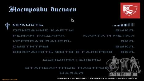 Novo menu de CatVitalio para GTA San Andreas oitavo tela