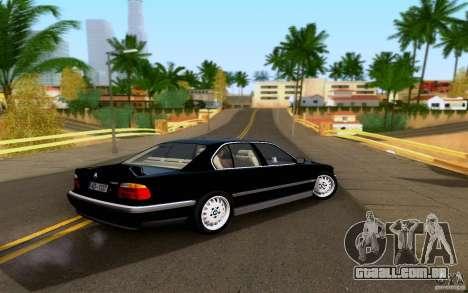 BMW 730i E38 FBI para GTA San Andreas esquerda vista