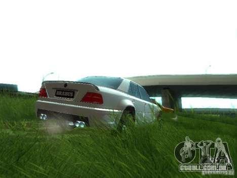 Mercedes-Benz W124 BRABUS para GTA San Andreas vista traseira
