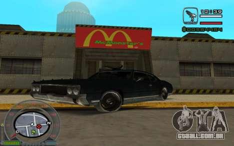 New Sabre para GTA San Andreas esquerda vista
