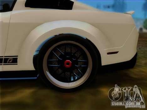 Ford Shelby GT500 SuperSnake NFS The Run Edition para GTA San Andreas vista traseira