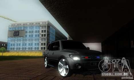 Mitsubishi Pajero FBI para GTA San Andreas traseira esquerda vista