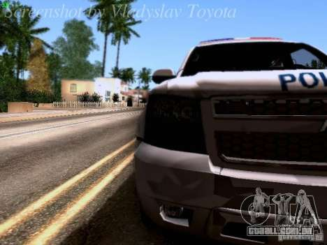Chevrolet Tahoe 2007 NYPD para GTA San Andreas vista interior