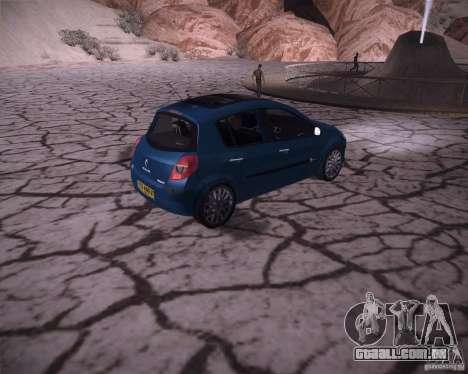 Renault Clio III para GTA San Andreas vista direita
