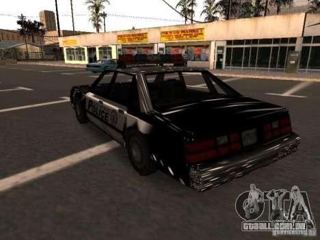 Police VC para GTA San Andreas traseira esquerda vista