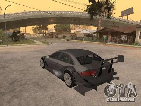Audi A4 Touring para GTA San Andreas traseira esquerda vista