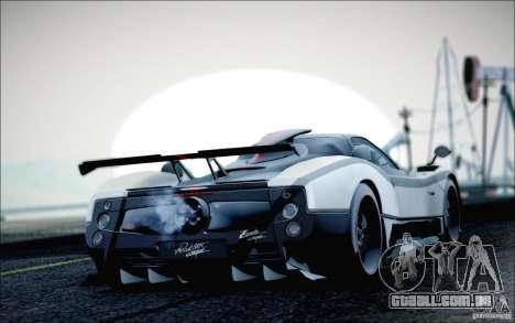 Pagani Zonda Cinque Roadster 2009 para GTA San Andreas esquerda vista